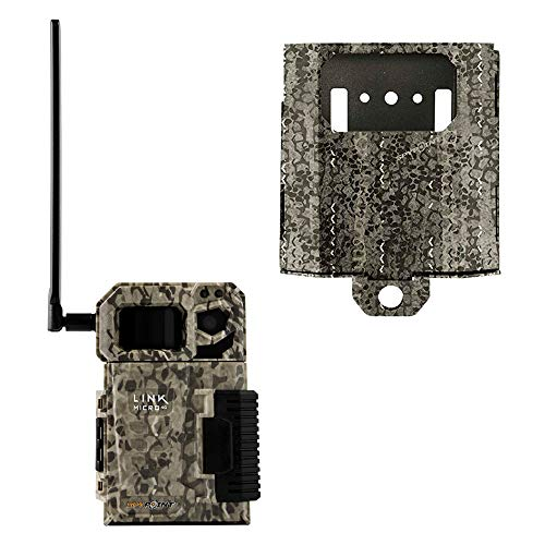 SPYPOINT Link-Micro Cellular MMS Trail Camera 4G/LTE USA Nationwide Network (Non-VERIZON) HD Video with SB-300 Lock Box and Free 2 Year Warranty Deluxe Trail Cam Package (4G Camera, Steel Lock Box