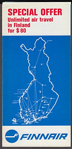 - Finnair Airlines Unlimited Travel in Finland airline folder & timetable 1960s