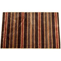 HiEnd Accents Striped Kitchen Bath Rug