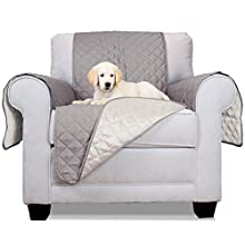 Furhaven Pet Sofa Buddy Furniture Cover Protector Pet Bed Dogs Cats, Chair, Gray/Mist