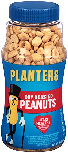 Dry Roasted Peanuts - Planters Whole Peanuts, Dry Roasted, 16 Ounces