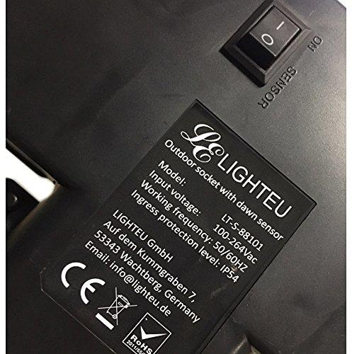 Espiga Zócalo Con Amanecer Gemela Para De 10m Nivel Prueba Ip54 CaExtensión ExterioresAlimentación Cable LighteuSensor A 3jA4R5L