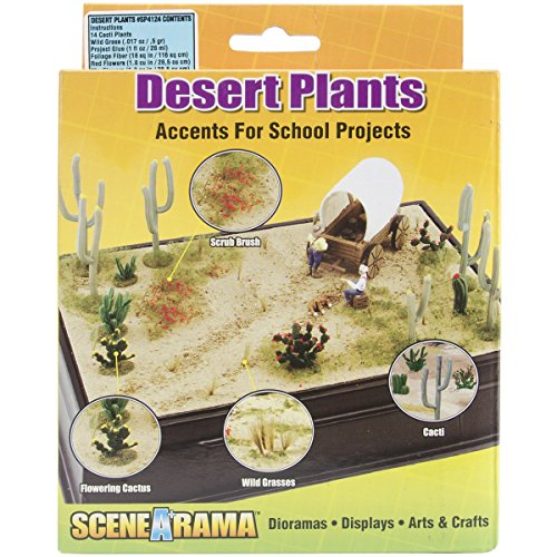 Woodland Scenics SP4124 Desert Plants Diorama Kit ()