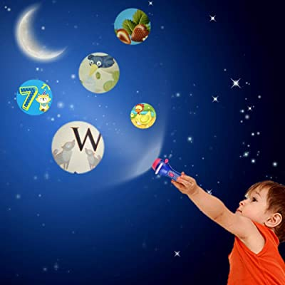 Upgraded Projector Toy Children Story Flashlight Toy Mini Theater Fairy Tale Projector Toy Early Education Toy for Toddler Boys and Girls : Baby
