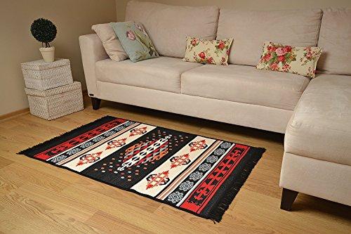 Traditional Anatolian Pattern Area Rug (24u0027u0027 X 36u0027u0027) Red Black ,Kitchen Rug,  Bathroom Rug, Bedroom Rug, Floor Runner, Entry Way Rug,Door Way Rug,Hall  Way ... Part 84