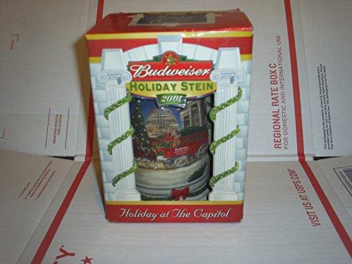 Budweiser Stein Holiday - 2001 Budweiser Holiday Stein