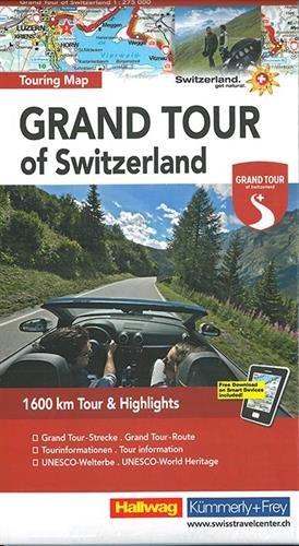 Grand Tour of Switzerland: Touring Map, 1:275 000 (Hallwag Strassenkarten)