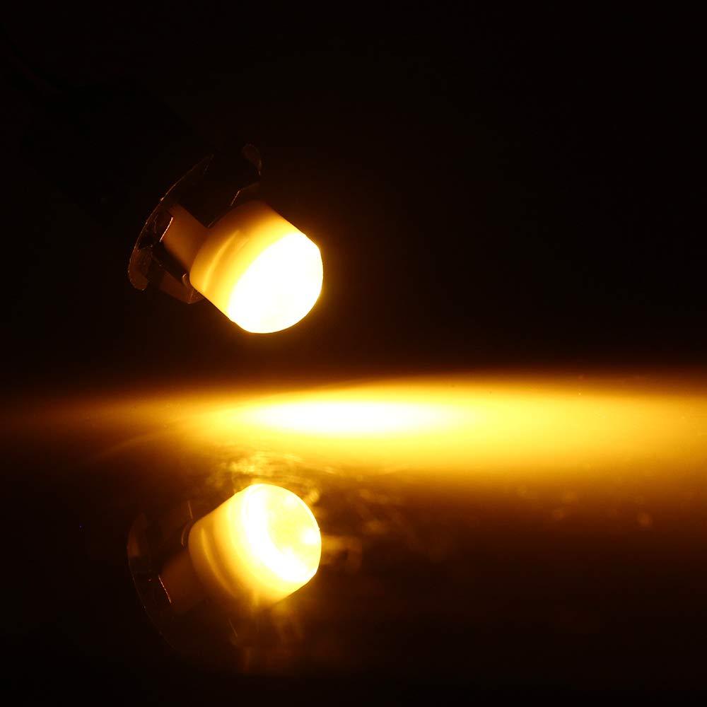 GLL White T10 194 LED Light Bulb 8000K 168 2825 3-SMD LED Non-Polarity Car Bulbs for Interior Exterior Lights Map Door Trunk License Plate Lamp Pack of 10