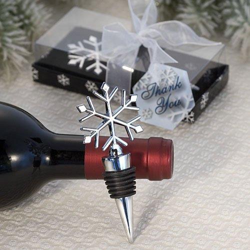 Elegant snowflake design wine botter stopper favors (Set of 48)