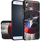 MOONCASE Huawei Y6 Case, [Captain] 3D Embossed Painting Series Protective Case Cover for Huawei Y6 / Honor 4A Anti-Slip Soft TPU Gel Case