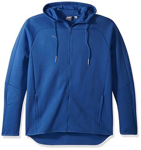 PUMA Men's FIGC Italia Azzurri Zip-Thru Hoodie, Team Power Blue, M (Sweatshirt Hooded Thru Zip)