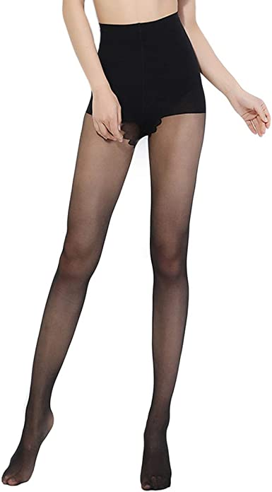 Large Black Glossy 15 Denier Tights by Silky New//Same Day Postage
