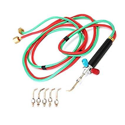 Finlon - Linterna de Gas Micro con Kit de Soldadura con 5 Puntas de Soldadura y