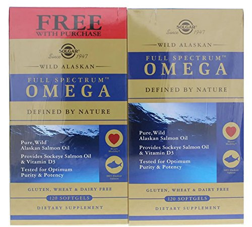 Solgar - Wild Alaskan Full Spectrum Omega Softgels Twinpack (2x120 Sgels) - 240Sgels