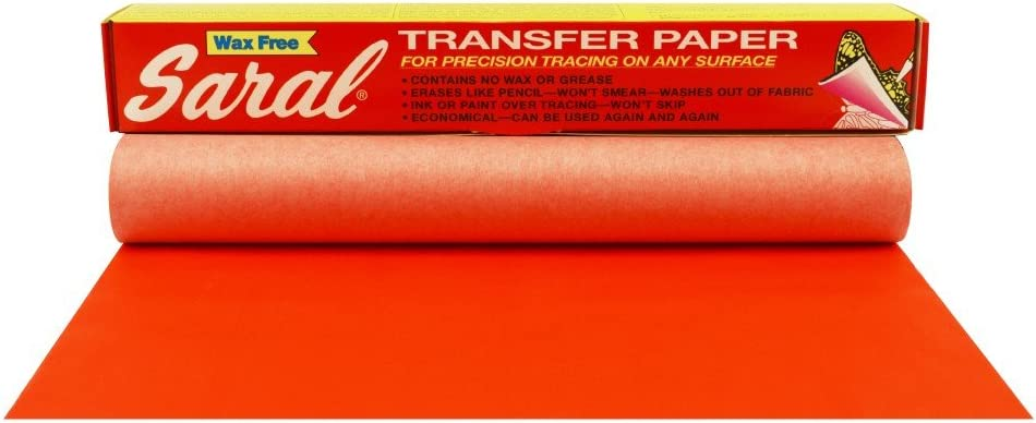 12 inches x 12 foot Roll White Saral Wax Free Transfer Paper