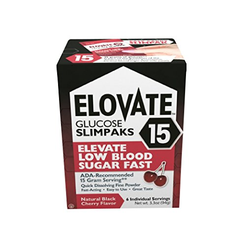 - Elovate Low Blood Sugar Glucose Powder 15g - 6 Count