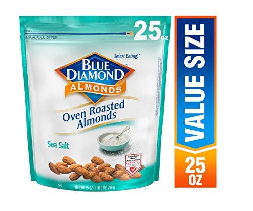 Blue Diamond Almonds, Oven Roasted Sea Salt, 25 Ounce
