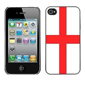 - Flag - - Monedero pared Design Premium cuero del tir¨®n magn¨¦tico delgado del caso de la cubierta pata de ca FOR Apple iPhone 4 4S 4G Funny House