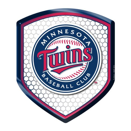 MLB Minnesota Twins Team Shield Automobile Reflector