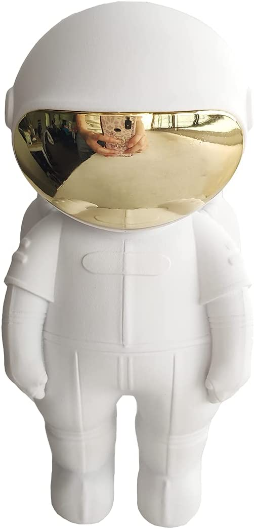 Statues Resin Astronaut Figurines Fashion Spaceman Sculpture Decorative Creative Gift Miniatures Cosmonaut Statues Toys,Gifts,Ornaments,Fashion,Resin,Astronaut,Figurines,Craft,Statues (White)