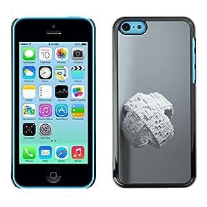 Be Good Phone Accessory // Dura Cáscara cubierta Protectora Caso Carcasa Funda de Protección para Apple Iphone 5C // White Abstract Cube