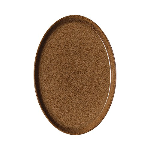 Denby Studio Craft Chestnut Medium Oval Tray, Ceramic, Brown, 27 x 18.5 x 2.5 cm