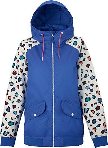 Burton TWC Whatever Bomber Snowboard Jacket Womens SZ (Cheetah Snowboard Jacket)