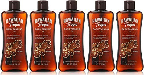 PACK OF 5 - Hawaiian Tropic Original Dark Tanning Oil, 8oz