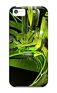 High-quality Durability Case For Iphone 5c(abstract Nvidia 3d Graffiti)