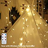 LED String Lights, by myCozyLite, Plug in String Lights, 49Ft 100 LED Warm White Lights with Timer, Waterproof, Perfect for Indoor and Outdoor use, Low Voltage Transformer, Remote Control, Extendable