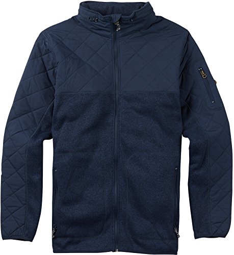 Burton Men's Pierce Fleece Sweaters, Mood Indigo Heather, Large Burton Mens Lightweight Fleece