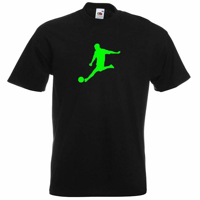 De algodón los hombres es Color negro Patrón de T-shirts nuevo ninguna bola  de fútbol camiseta de diseñadores de impresión de  Amazon.es  Ropa y  accesorios 8864519ce372e