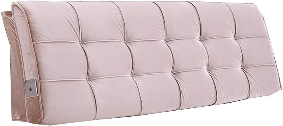 HDGZ Solid Color Upholstered Headboard Sponge Upholstery Bedside Backrest Support Wedge Reading Pillow Cushion (Color : I, Size : 1805810cm)