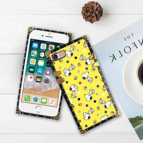 Cell Phone Case Compatible iPhone 8 (2017)/iPhone 7 (2016) 4.7inch Yellow Wallpaper Snoopy