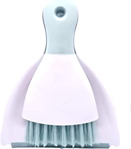 Xifando Mini Cleaning Brush with Dustpan Set,Plastic Mini Broom and Dustpan,Desktop Cleaning Set (Green)