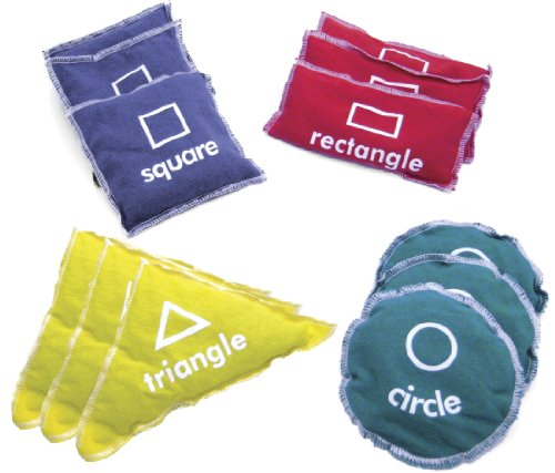 American Educational Products Geometric Bean Bags, Set of 12 ()