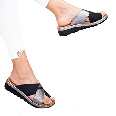 187237dc9 Dressin 2019 New Women s Comfy Platform Sandal Shoes Summer Beach Travel  Shoes Fashion Sandals Comfortable Ladies