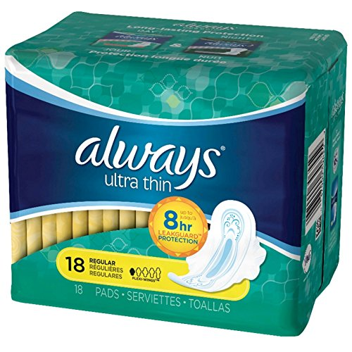 always-ultra-thin-size-1-pads-with-wings-regular-absorency-unscented-18-count-packaging-may-vary