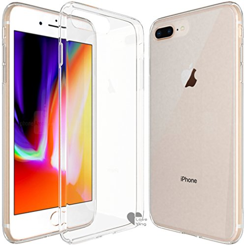 iPhone 8 Plus Case,iPhone 8 Plus cover Love Ying Flexible TPU Gel Rubber Soft Skin Silicone Protective Case Cover for iPhone 8 Plus-Clear