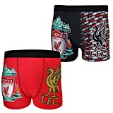Liverpool FC Official Gift 2 PAIR Pack Mens Crest Boxer Shorts XL