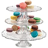 OLYMPIA 3 TIER GLASS CAKE PLATE STAND SERVER