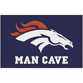 FANMATS 14297 NFL Denver Broncos Nylon Universal Man Cave Starter Rug