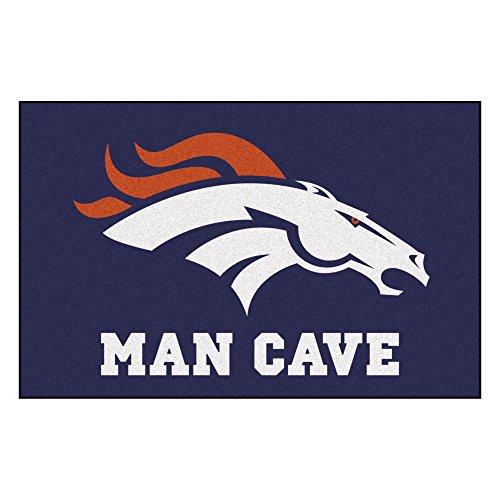 Fanmats 14297 NFL Denver Broncos Nylon Universal Man Cave Starter Rug ()