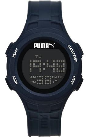 f5c1b2550b Puma Time PU911301002 - Montre Quartz - Affichage Digital - Bracelet  Plastique Bleu et Cadran Gris - Homme: Amazon.fr: Montres