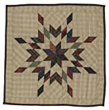Star Garland Wall Hanging Quilt 18 Inches by 18 Inches 100% Cotton Handmade Hand Quilted Heirloom Quality