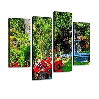 Union Garden Jardin Guanajuato Mexico Canvas Wall Art Hanging Paintings Modern Artwork Abstract Picture Prints Home Decoration Gift Unique Designed Framed 4 Panel