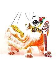 Chinese Hand Marionette Puppet (Orange Lion)