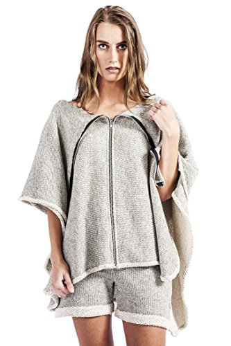 HOODIE PONCH Heidi Hess Designer Zippered Poncho Sweatshirt Converts Into Scarf, Hoodie, or Top - Mesh Me Up, One Size by HOODIE PONCH