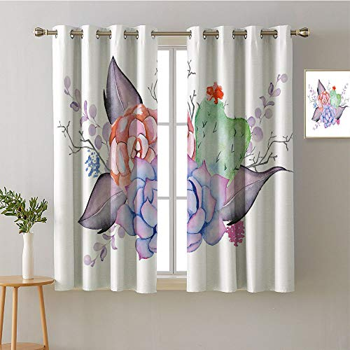 (Jinguizi Curtain Backdrop Grommets Bedroom Darkening Curtains décor Darkening Curtains Blackout/Room Darkening Curtains Room Darkening Curtains(1 Pair, 52