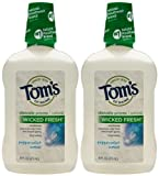Tom's of Maine Long Lasting Wicked Fresh Mouthwash, Peppermint Wave, 16oz, 2pk by Tom's of Maine